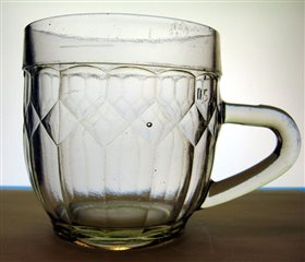 Mug for beer. Side view